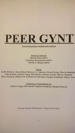 Lea Kirn, Musical, Schauspiel Peer Gynt, Martin G. Berger, Theater Oberhausen