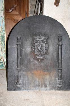 plaque de cheminée armoriee