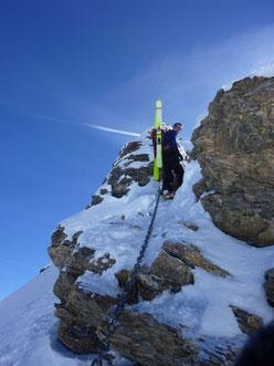Skitour, Clariden, Überschreitung, Tüfelsjoch, Teufelsjoch, Klausenpass, Urnerboden, Schweiz, Glarnerland, Gipfelgrat