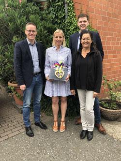 v.l.n.r.: Thorsten Baumgart (stellv. Kreisvorsitzender), Daniela Beihl, Silke Wehmeier und Patrick Büker
