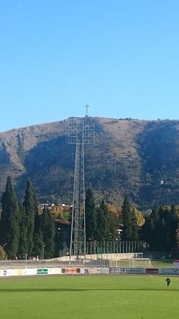 Mostar Stadion Flutlicht