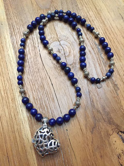 #heart#necklace#lapislazuli#tinarts