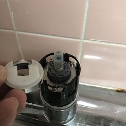 インスペクション 混合水栓修理