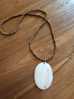 #necklace#wood#pendantshell