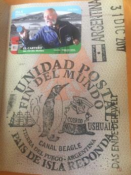 Stempel, Reisepass, Passstempel, coole, außergewöhnliche, Sonderstempel, Pass, seltene, entfernte, Touristenstempel, Touristen Stempel, Ushuaia, Argentinien