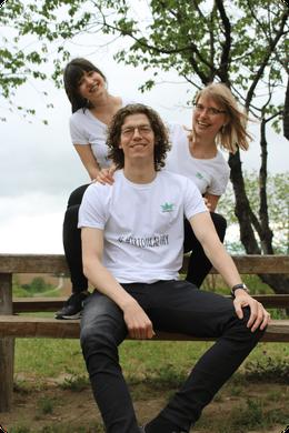 (von links) Leonie Oeschger, Pascal Sedlick und Julia Oeschger