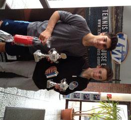 Vincent, links im Bild, gewinnt das HTV Turnier