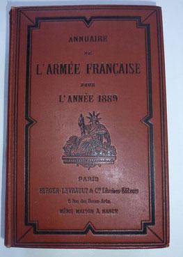 annuaire armées française 1889