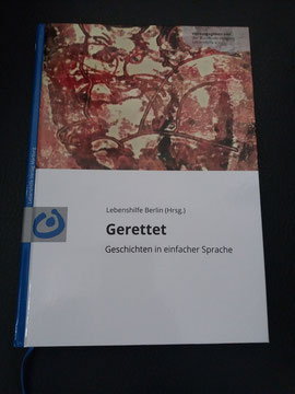 """Foto vom Buch von der Lebenshilfe """"Gerettet"""""""