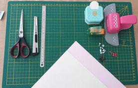 Le Menu éventail : matériel nécessaire Crédit photo : Hésione Design