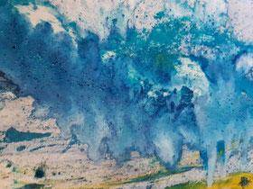 """""""Clouds breaking trough"""", 120 cm × 30 cm"""
