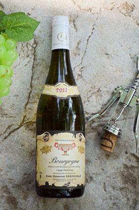 bouteille, vin, bourgogne blanc