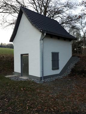 """Pumphaus """"Steinkuhle"""" nach der Außensanierung in 2020"""