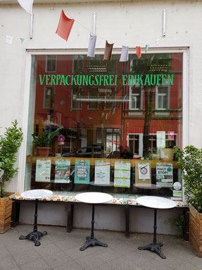 Das Pure Note in Düsseldorf-Bilk. Der zweite Unverpacktladen in der Stadt.