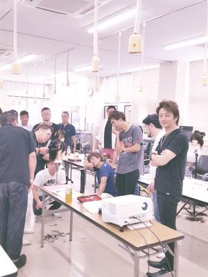鹿児島県理容組合の教育部&講師会での2020ニューヘアー『Leap』の講習会が開催された(2019.9.2)