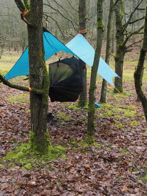 Amazonas Jungle Tent Pro aufgebaut
