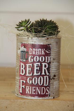 drink goos beer dose büchse sukkelente pflanze