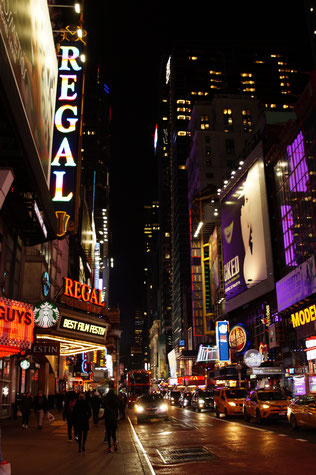 New York bei Nacht, Foto: Ulf F. Baumann
