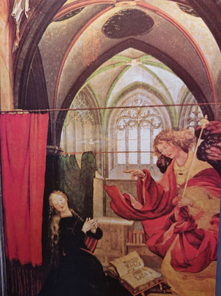 Matthias Gruenewald 'The Annunciation of Jesus' birth