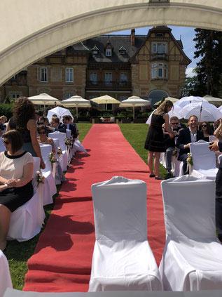 Einzug der Braut mit Hochzeitssänger