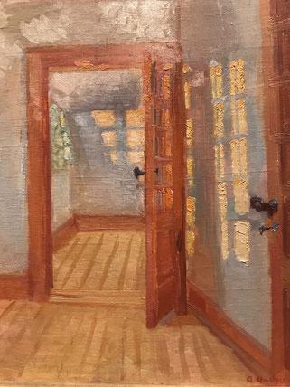 Anna Ancher brugte de samme motiver igen og igen. Her: Brøndums anneks, 1917