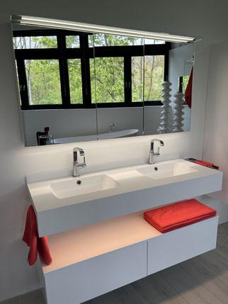 SalArt Design -kretta BATH - Waschtisch Modar mit doppelten Becken und LED - krelux