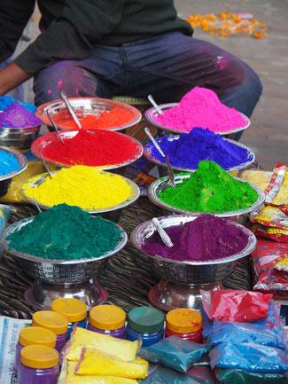 Lichterfest Holy Nepal Farben