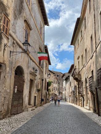 Sermoneta centro storico città medievale Latina