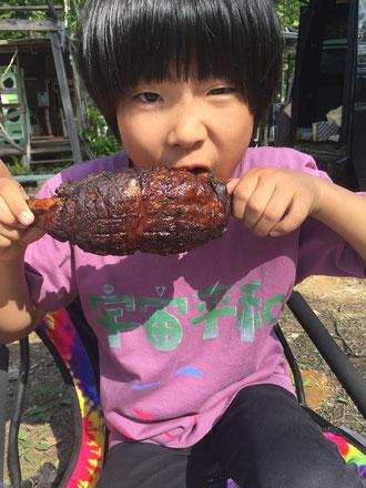 マンガ肉にかぶりつく!!国産豚肉使用