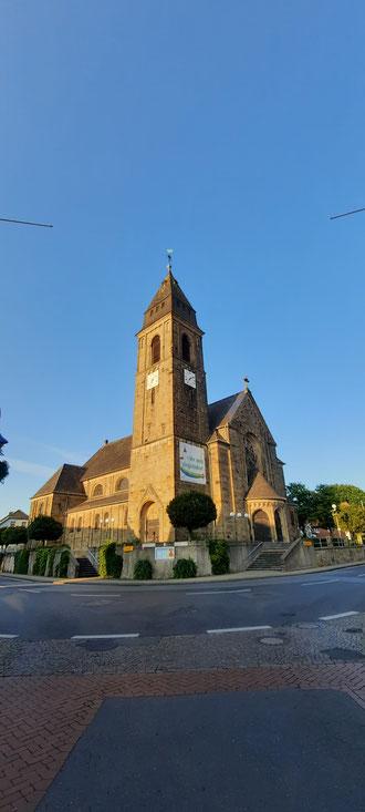 Abendsonne auf der Kirche in Schermbeck