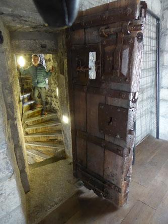 Doornik - in een gevangeniscel van het Belfort.
