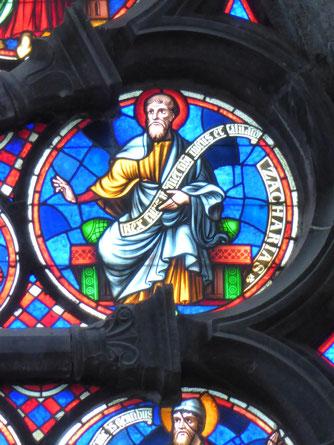 Notre-Dame de Tournai Rosace - Profeet Zacharias