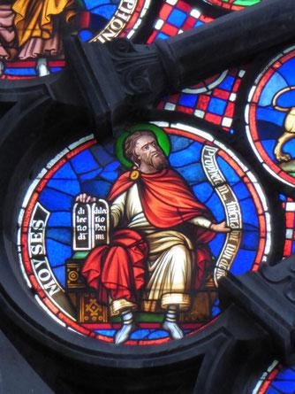 Notre-Dame de Tournai Rosace - Profeet MOYSES