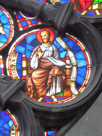 Notre-Dame de Tournai Rosace - Profeet Ionas