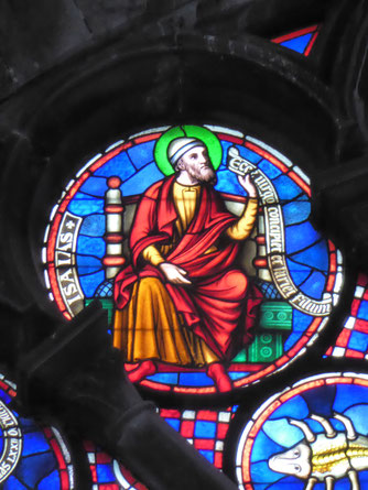 Notre-Dame de Tournai Rosace - Profeet ISAIAS
