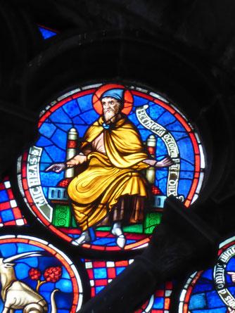 Notre-Dame  de Tournai Rosace  - Profeet MICHEAS
