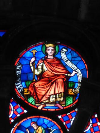Notre-Dame de Tournai Rosace - Koning en Profeet SALOMON