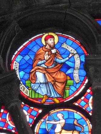Tournai Rosace van de Notre-Dame - Profeet Amos