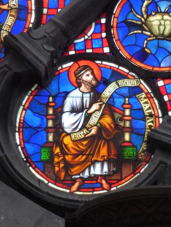 Notre-Dame de Tournai Rosace - Profeet MALACHIAS