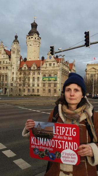NABU-Protest gegen Naturfrevel der Stadtverwaltung.
