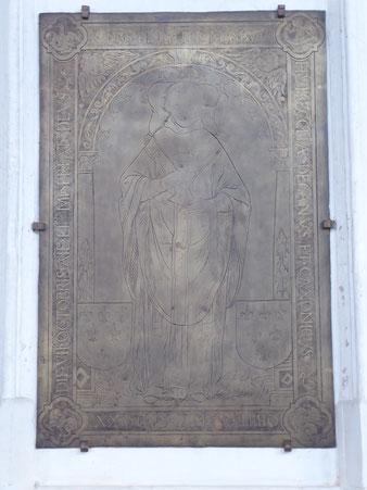 Stevenskerk bronzen grafplaat deken Thomas Buys
