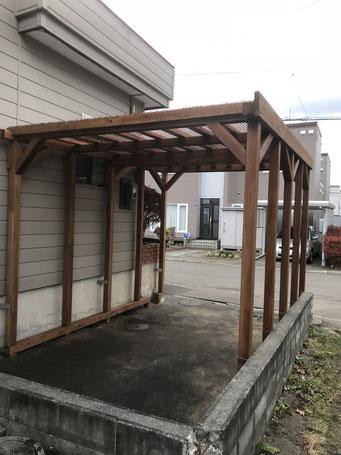 カーポート修理取付は札幌手稲の建築工房エンドウ