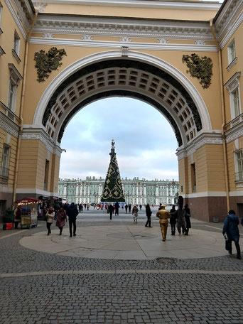 Generalstabsgebäude mit Blick auf den Winterpalast