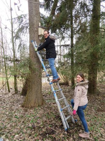 Fabian und Steffi Brezina in luftiger Höhe © Günther Weitzer