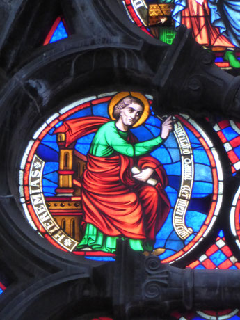 Notre-Dame de Tournai Rosace - Profeet HIEREMIAS