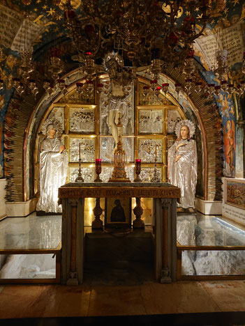 The Greek Orthodox Golgotha - the site of the cross of Jesus