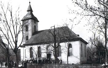 Die alte Altglienicker Dorfkirche anno 1893 (Bild: BVA)