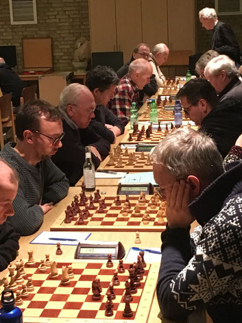 Ein starkes Team. VSK 1 gegen Schachfreunde 3
