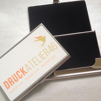 Druckatelier46 - Visitenkartenbox mit Fotodruck