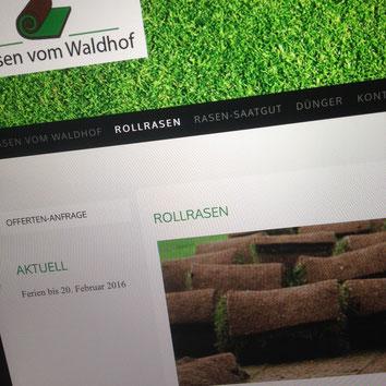 Druckatelier46 - Linkfoto Wald-Hof - Rollrasen vom Waldhof